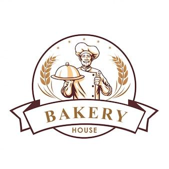 Chef bakery shop logo