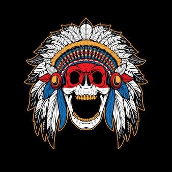 Chef de crâne amérindien