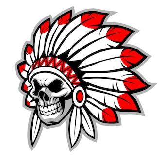Chef de crâne indien