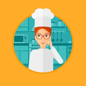 Chef cuisinier ayant une idée.
