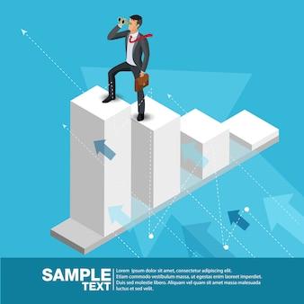 Chef d'entreprise futur concept finance manager business man