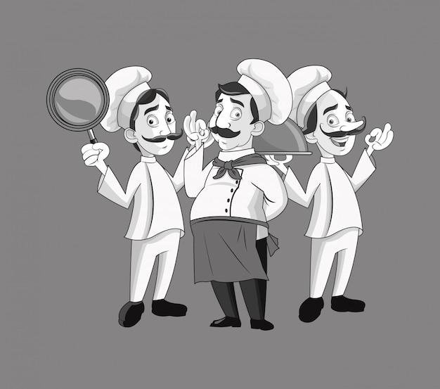 Chef heureux ou cuisinier icône image