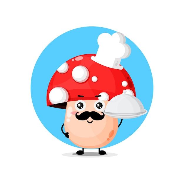 Chef mignon de caractère de champignon