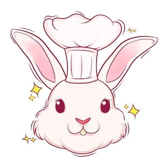 Chef mignon de lapin dessiné à la main