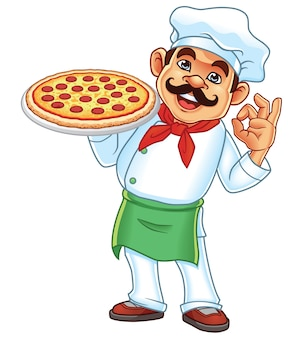 Chef et pizza