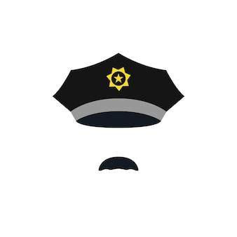 Chef de policier avec casquette