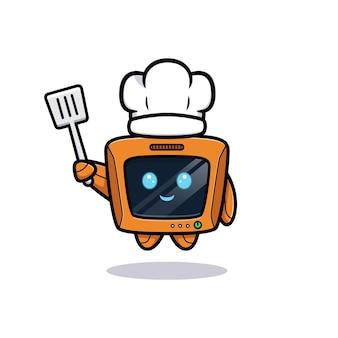 Chef de robot mignon, version de personnage de télévision