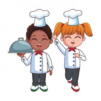 Chefs enfants cartoon