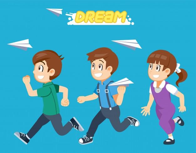 Chemin des étudiants pour suivre le rêve ensemble.