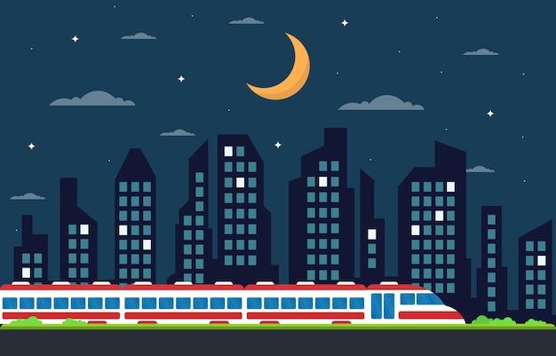 Chemin de fer chemin de fer côté transport public métro métro train illustration paysage