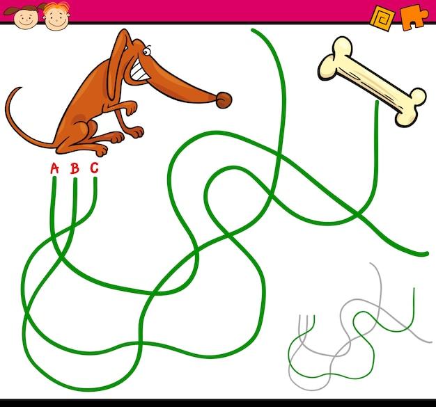 Chemin ou jeu de dessin animé de labyrinthe