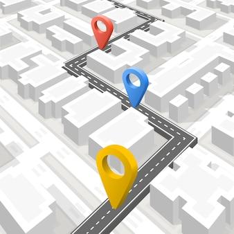 Chemin pavé sur la route, arrière-plan de l'emplacement, illustration vectorielle