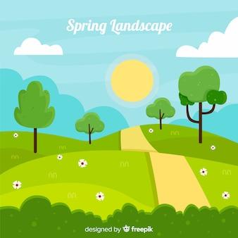 Chemin printemps fond