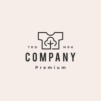 Chemise en coton t shirt tee hipster modèle de logo vintage