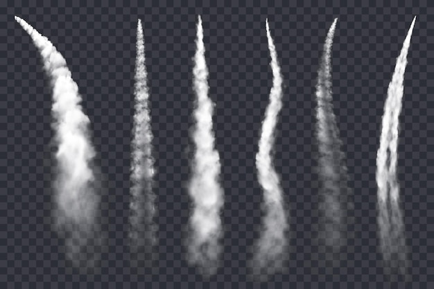Chemtrails d'avion, nuages de jet d'air, traînée