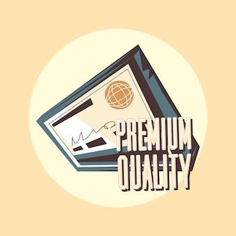 Chèque bancaire premium qualité label grunge vintage