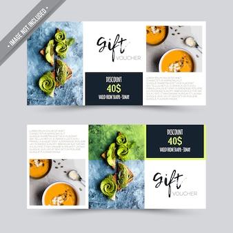 Chèque-cadeau design de restaurant
