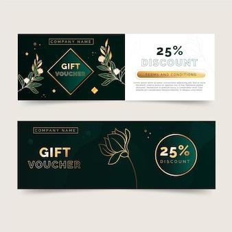 Chèque-cadeau élégant avec des détails dorés