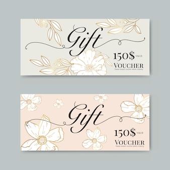 Chèque-cadeau avec fleur d'or