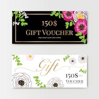 Chèque cadeau avec fleur