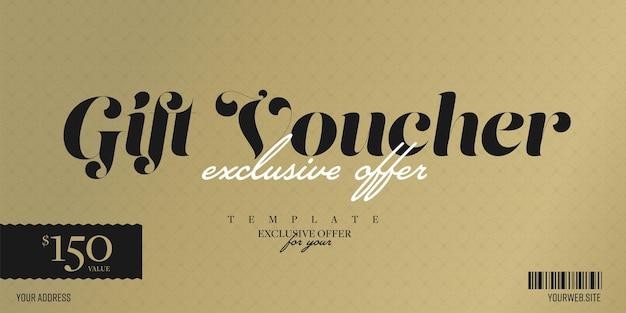 Chèque-cadeau avec offre exclusive de remise à valeur personnelle.