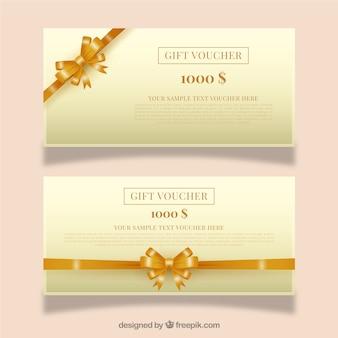 Chèques cadeaux d'or