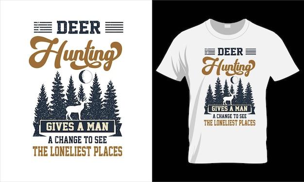 Cher design de t-shirt de chasse