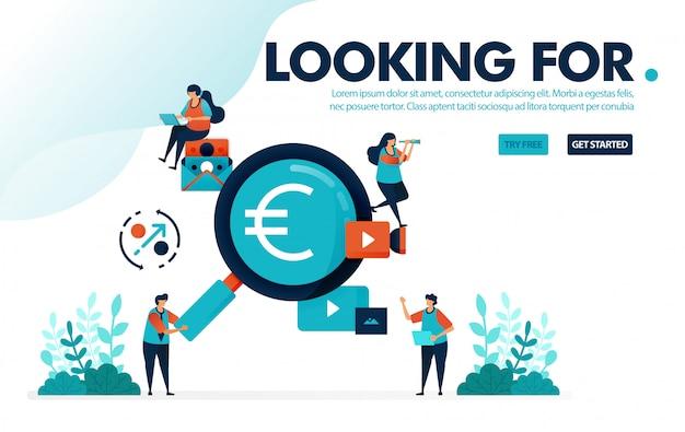 Chercher des emplois, rechercher des emplois bien rémunérés, des bénéfices et des investissements.