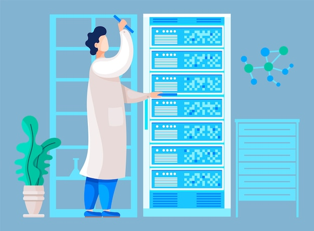 Chercheur travaillant dans un centre scientifique vérifiant les résultats d'un test ou d'une analyse.