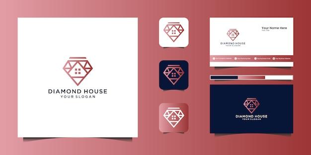 Cheval d'amour élégant avec un design graphique élégant et un logo de conception de luxe d'inspiration de carte de visite