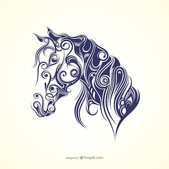 Cheval calligraphique
