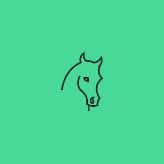 Cheval ligne art simple minimaliste logo design inspiration illustration vectorielle