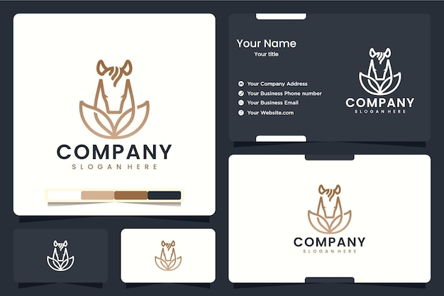 Cheval naturel, feuilles d'animaux, inspiration de conception de logo