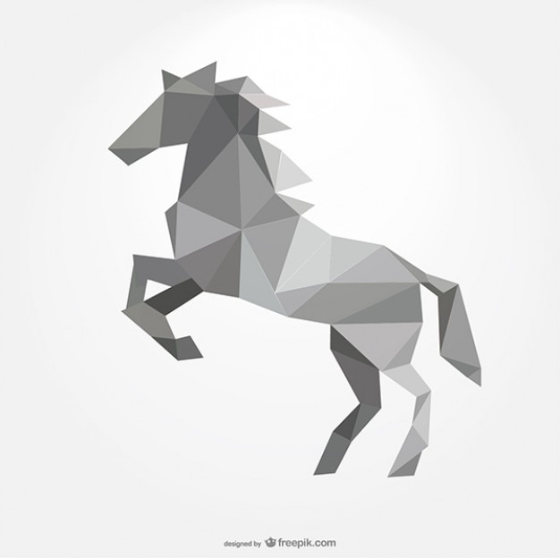 Cheval polygonale formant par des triangles