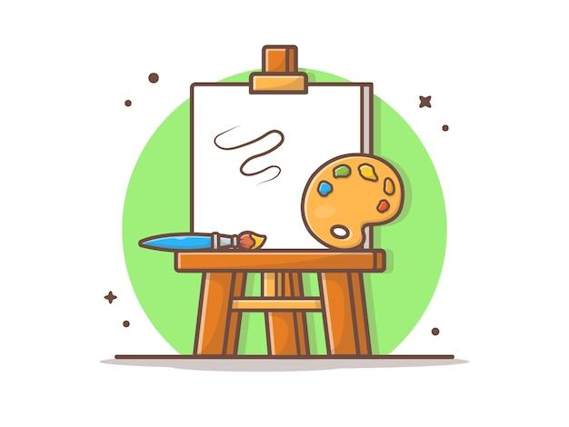 Chevalet art board vector illustration