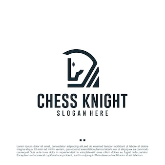 Chevalier d'échecs, inspiration de conception de logo