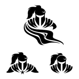 Chevalier guerrier titan sparta spartan silhouette
