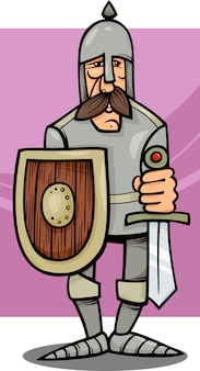Chevalier en illustration de dessin animé d'armure