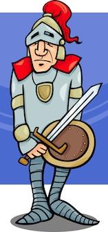 Chevalier avec illustration de dessin animé de l'épée