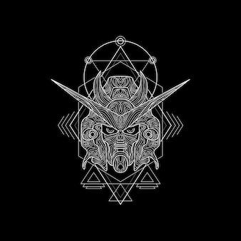 Chevalier noir style de géométrie sacrée