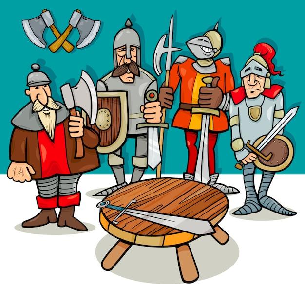 Chevaliers de la caricature de la table ronde