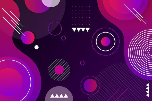 Chevauchement de formes fond violet