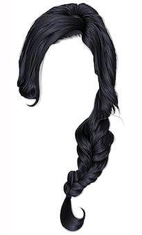 Cheveux de femme à la mode isolés sur blanc