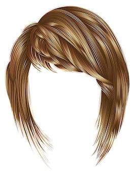 Cheveux femme tendance avec frange, blond marron clair