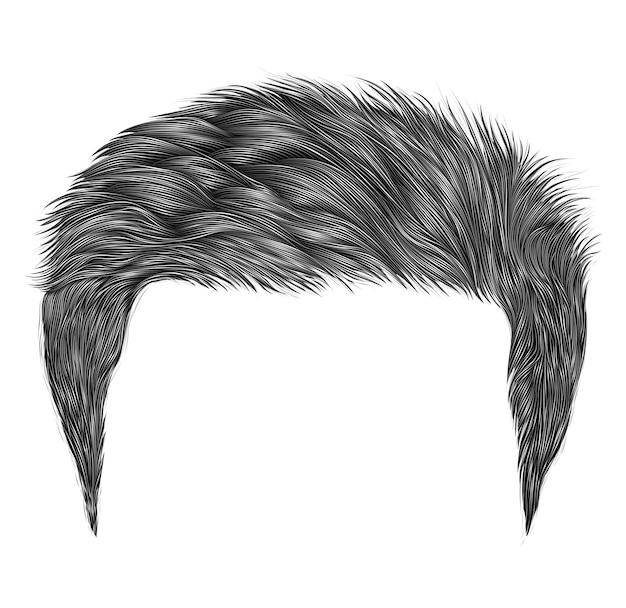 Cheveux homme tendance couleur grise.