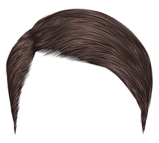 Cheveux homme tendance isolé sur blanc