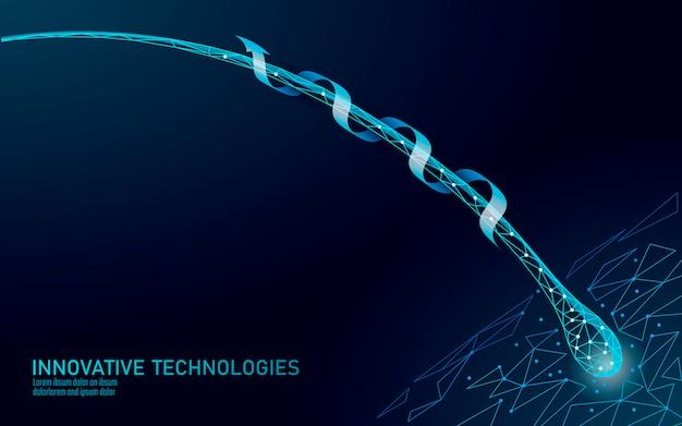 Les cheveux protègent le concept 3d de technologie cosmétique de soins. follicules pileux