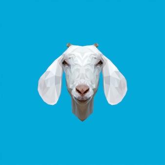 Chèvre, basse poly, art