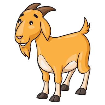 Chèvre, dessin animé, sourire
