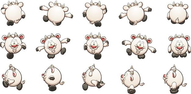 Chèvre de dessin animé